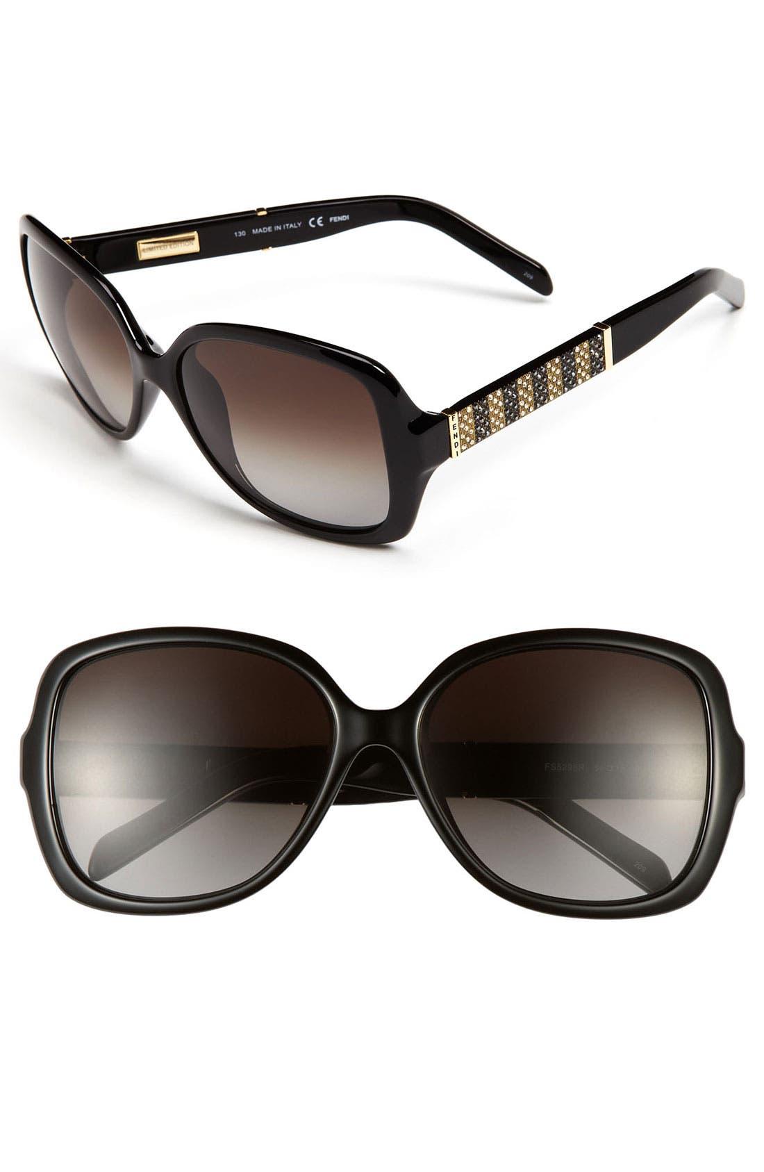 Alternate Image 1 Selected - Fendi 56mm Oversized Sunglasses