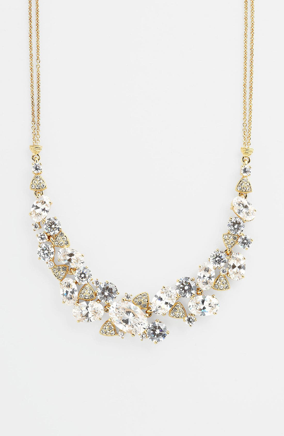 Alternate Image 2  - Nadri Cubic Zirconia Cluster Frontal Necklace (Nordstrom Exclusive)