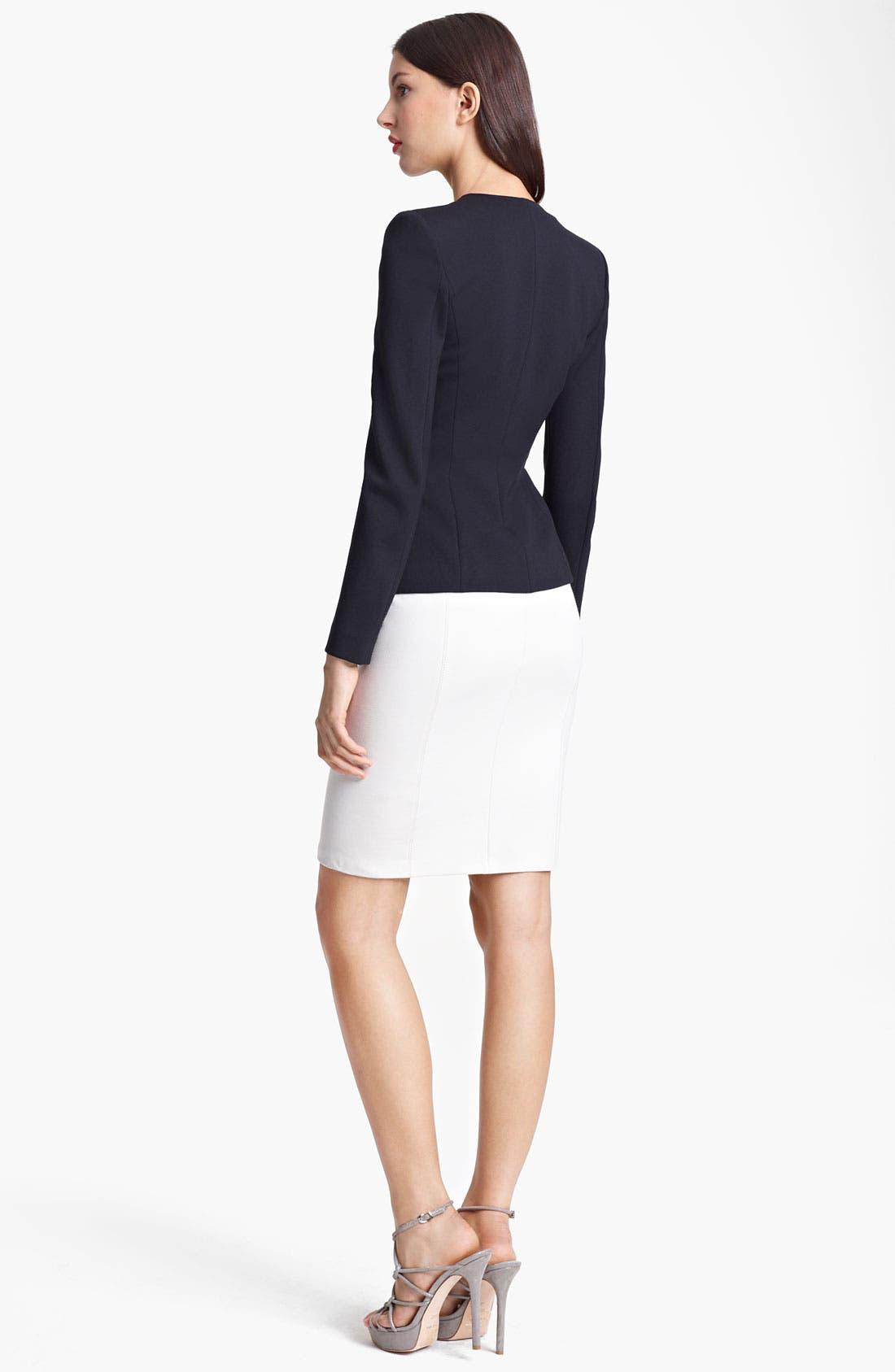 Alternate Image 3  - Armani Collezioni One Button Jersey Jacket
