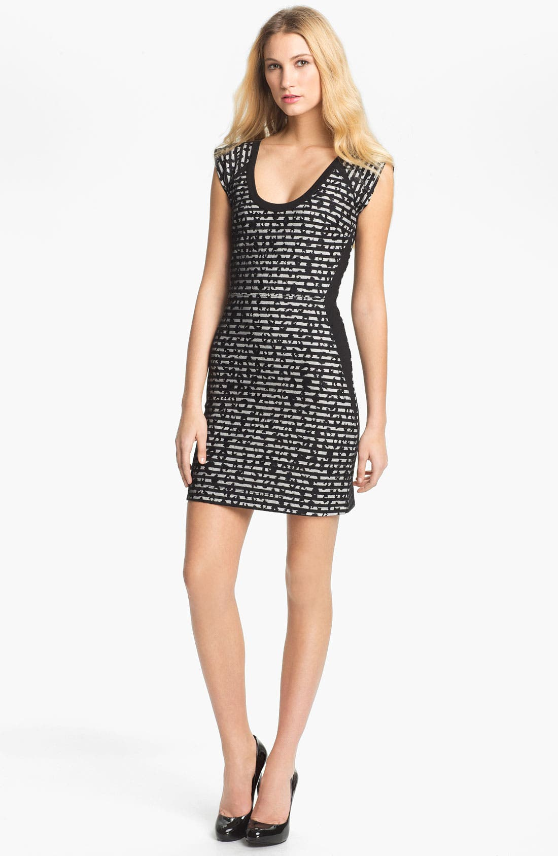 Main Image - French Connection 'City Lace' Print Sheath Dress
