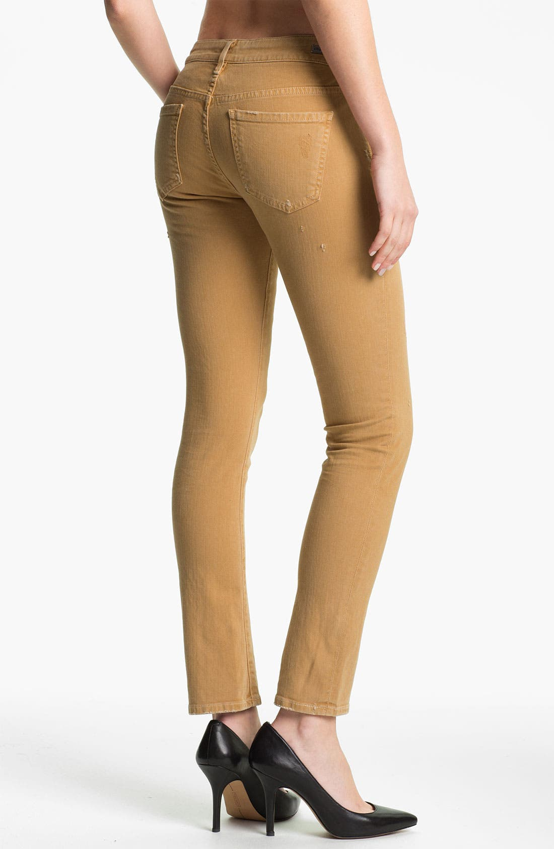 Alternate Image 2  - Citizens of Humanity 'Racer' Crop Skinny Jeans (Biscuit)