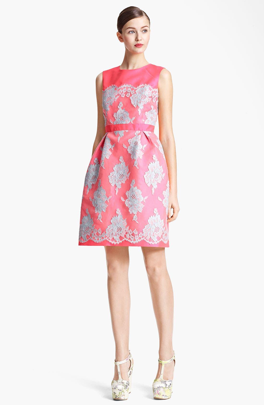 Main Image - Erdem Full Skirt Mikado Silk & Lace Dress