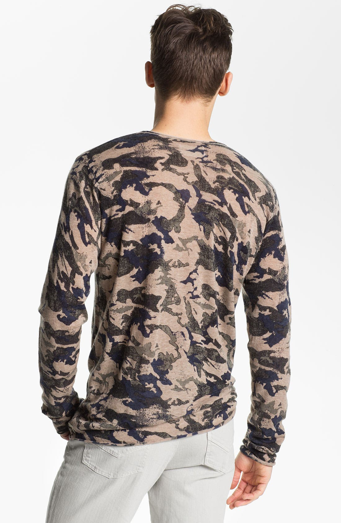 Alternate Image 2  - Zadig & Voltaire Camo Print Long Sleeve Cashmere T-Shirt