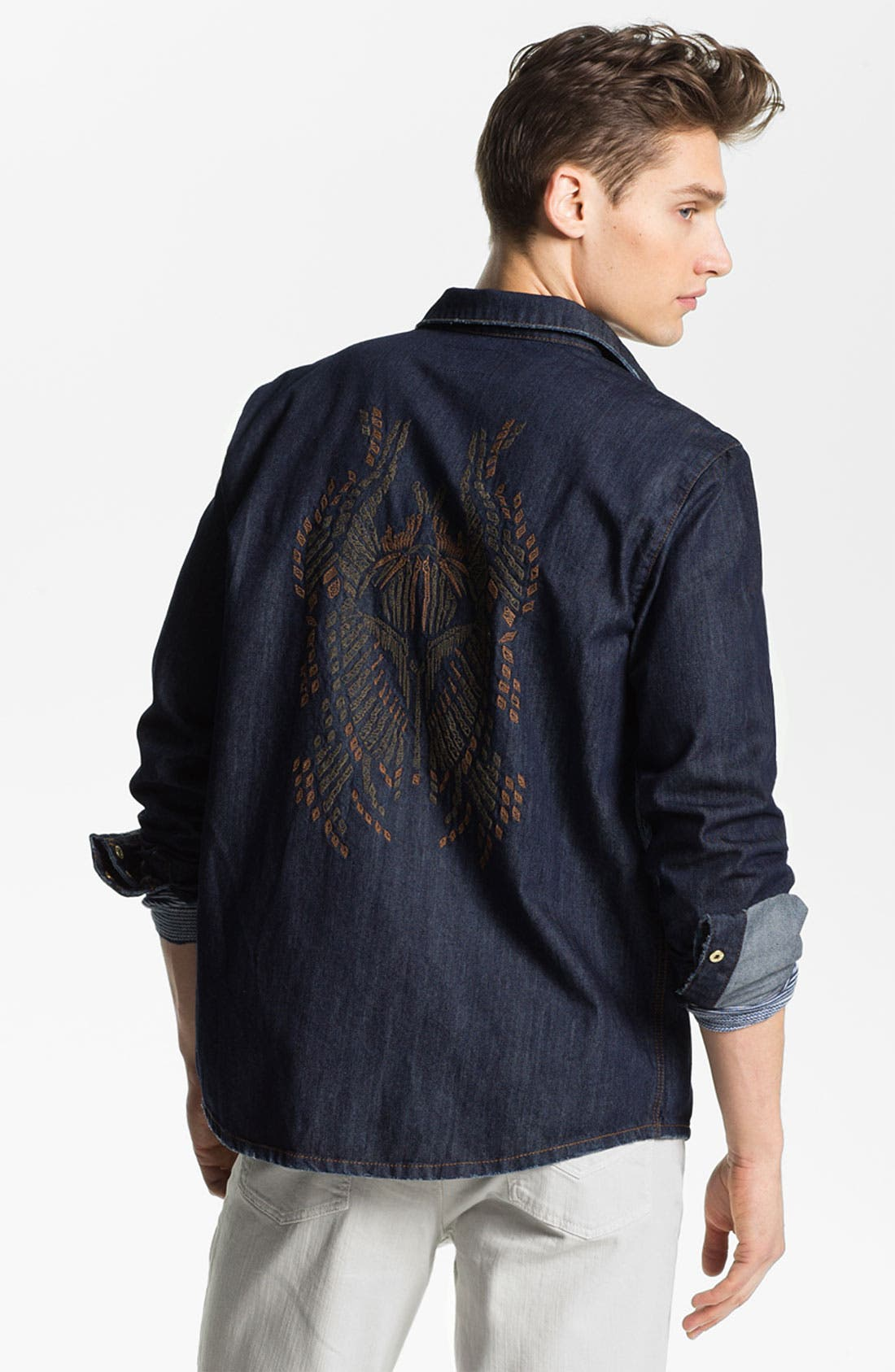 Alternate Image 2  - Zadig & Voltaire 'Tab Bis' Embroidered Denim Shirt