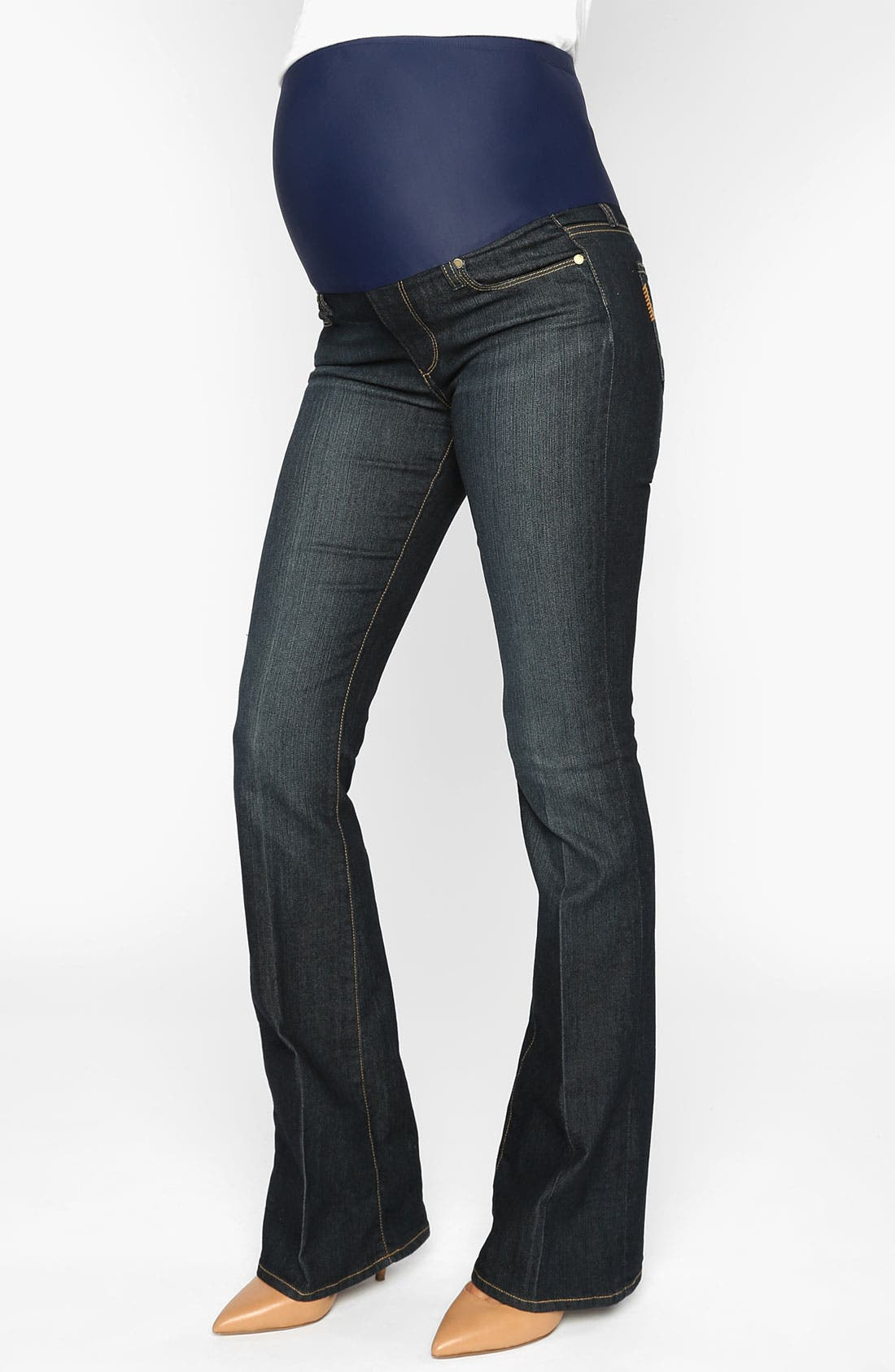 Main Image - Paige Denim 'Skyline' Maternity Bootcut Jeans (Twilight)