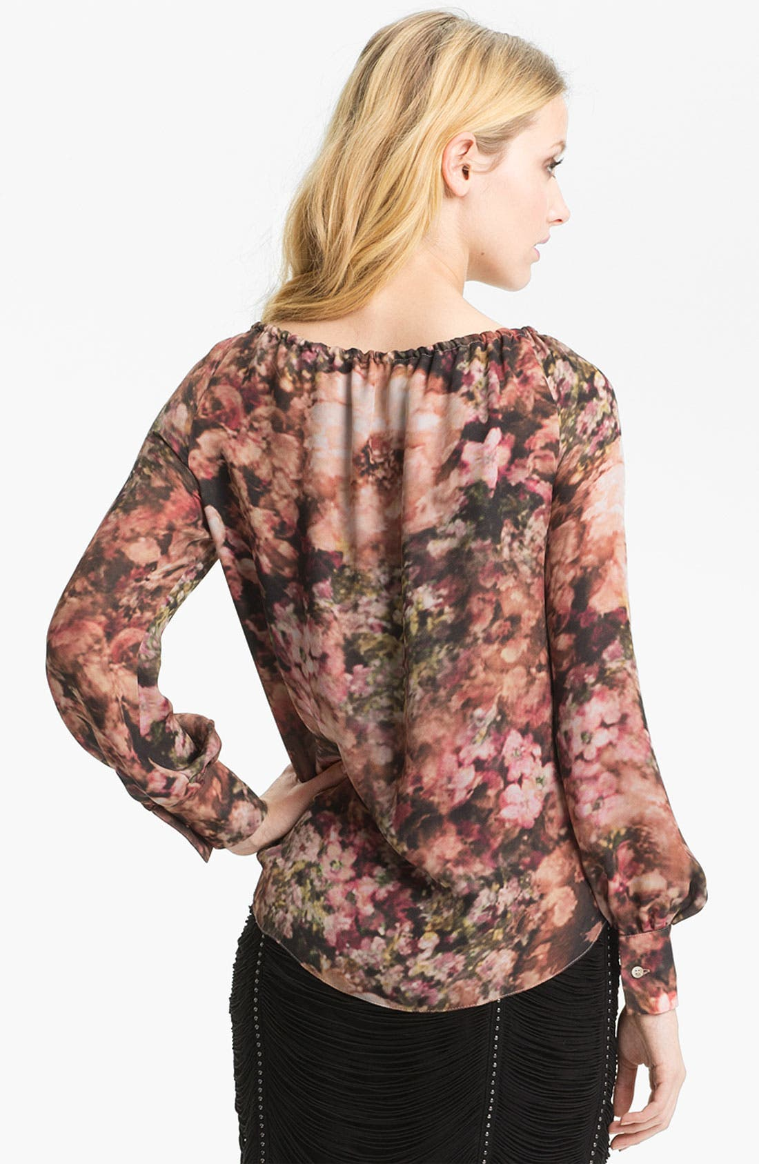 Alternate Image 2  - Haute Hippie Photo Floral Peasant Blouse