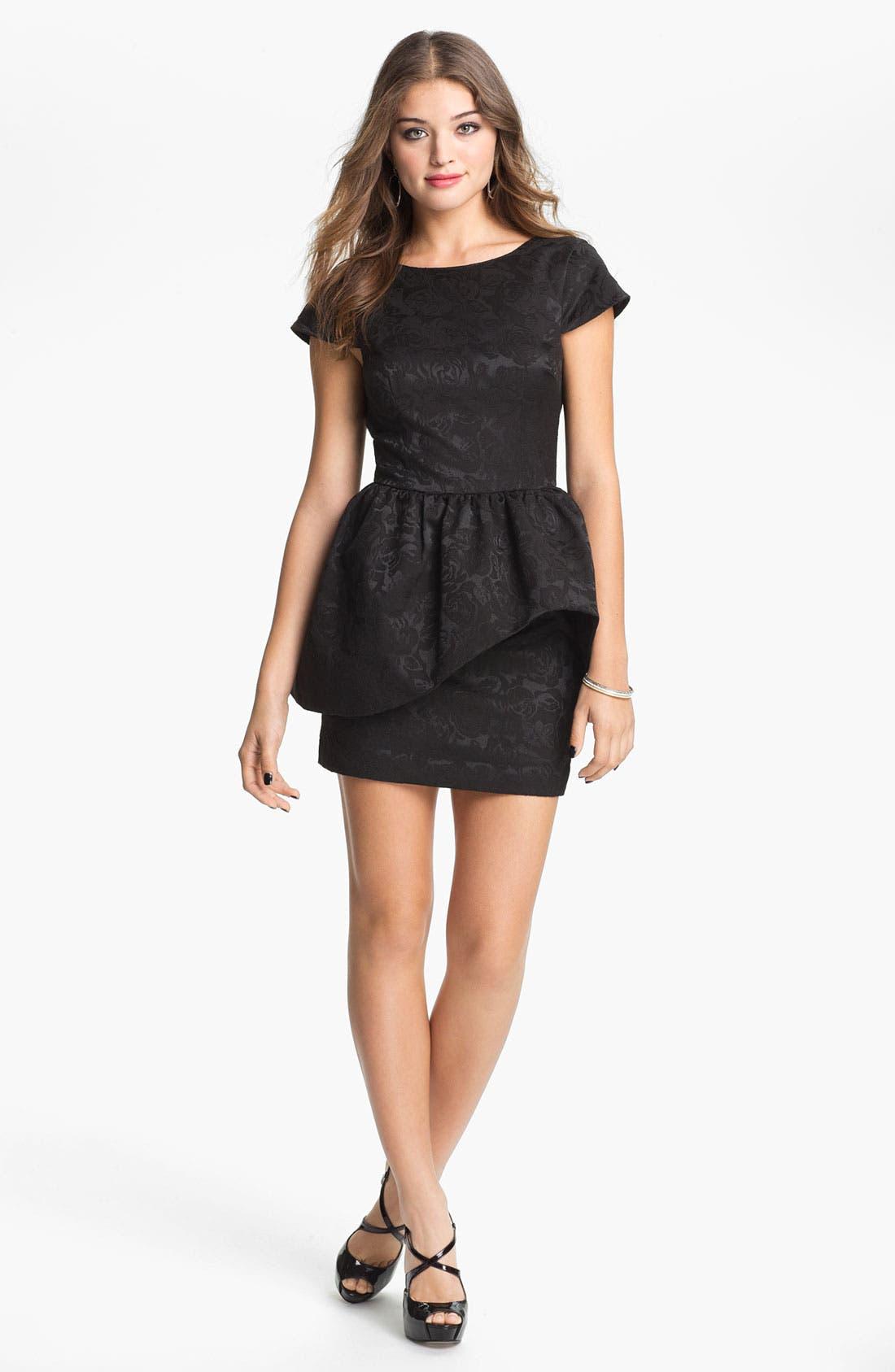 Alternate Image 1 Selected - Keepsake the Label 'Shake It Out' Peplum Dress