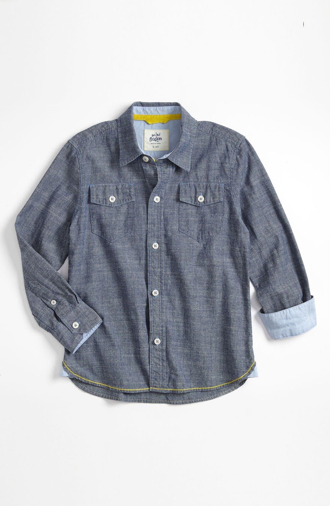 Alternate Image 1 Selected - Mini Boden 'Everyday' Woven Shirt (Little Boys & Big Boys)