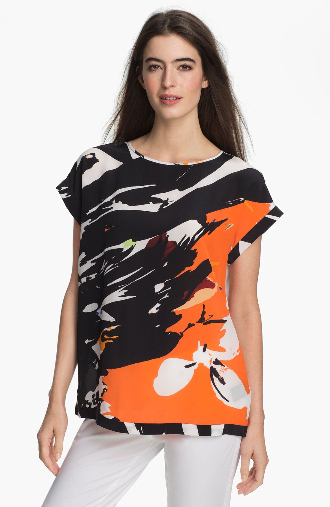 Main Image - Lafayette 148 New York 'Prima Floral Donna' Silk Top