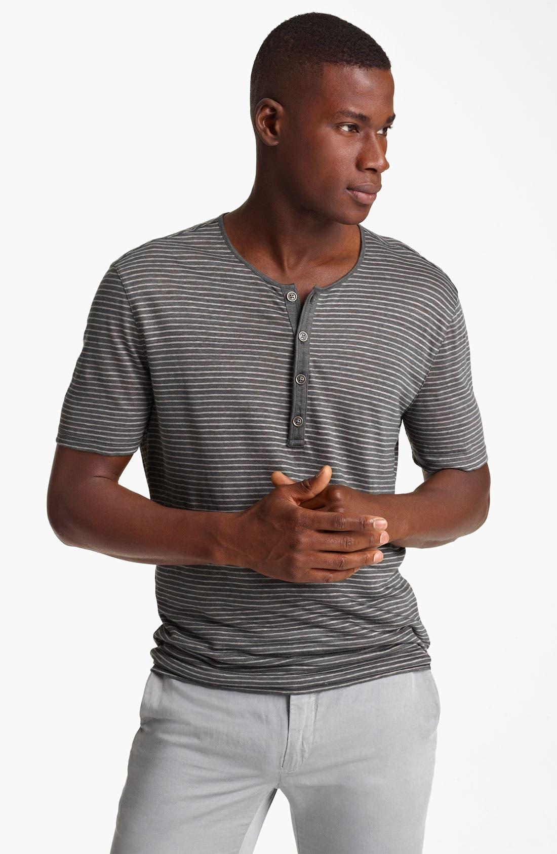 Main Image - John Varvatos Collection Stripe Henley T-Shirt