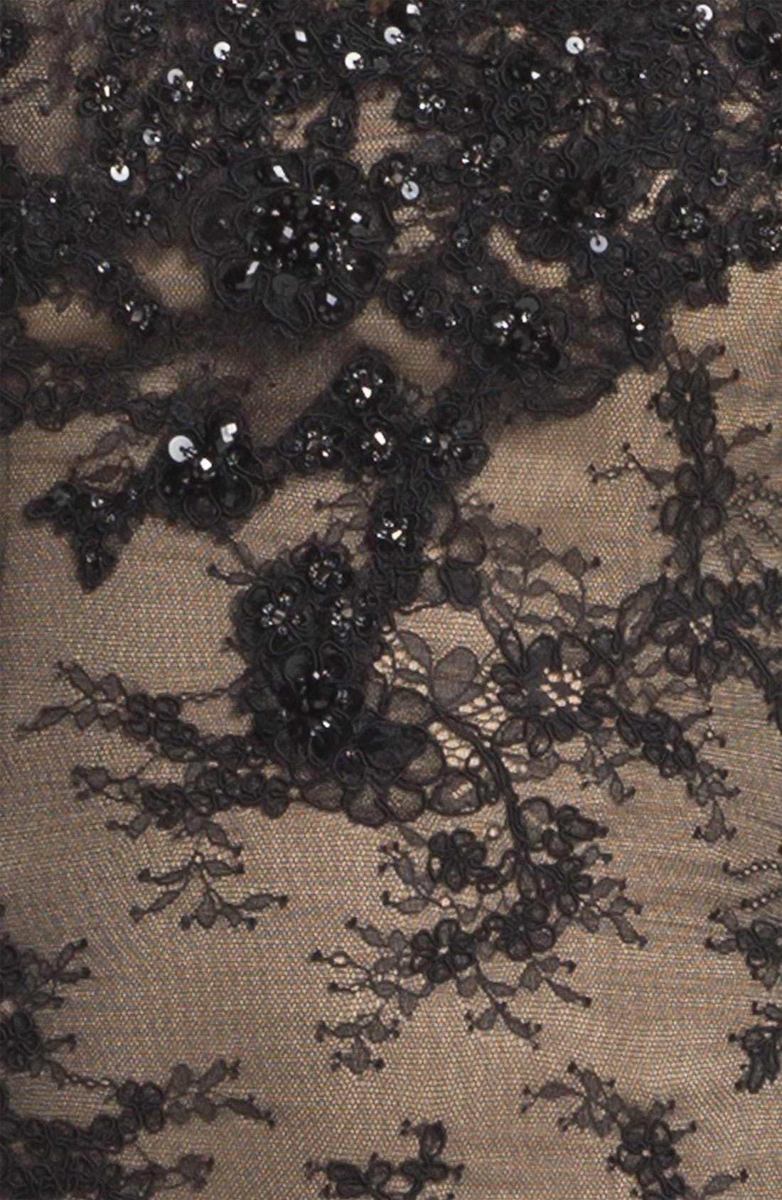 Alternate Image 3  - La Femme Strapless Lace Overlay Column Gown