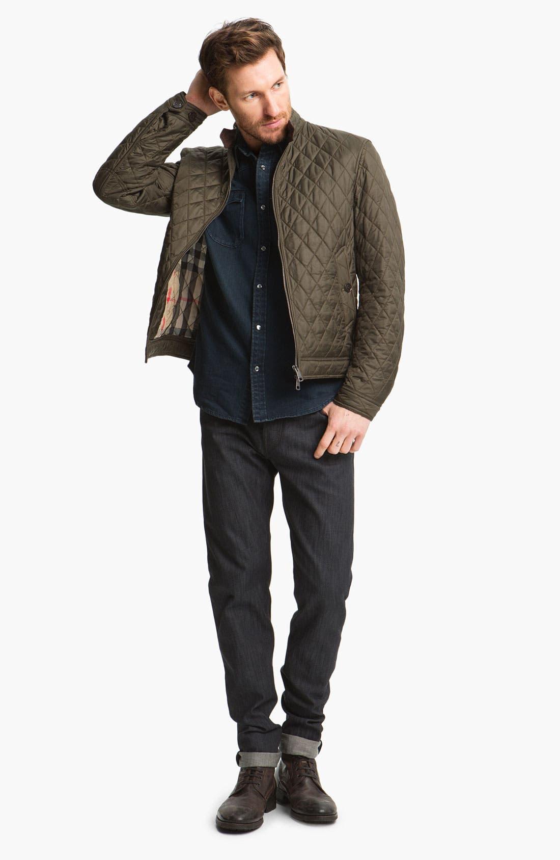 Alternate Image 5  - Burberry Brit 'Cavendish' Resin Washed Denim Jeans (Indigo Blue)