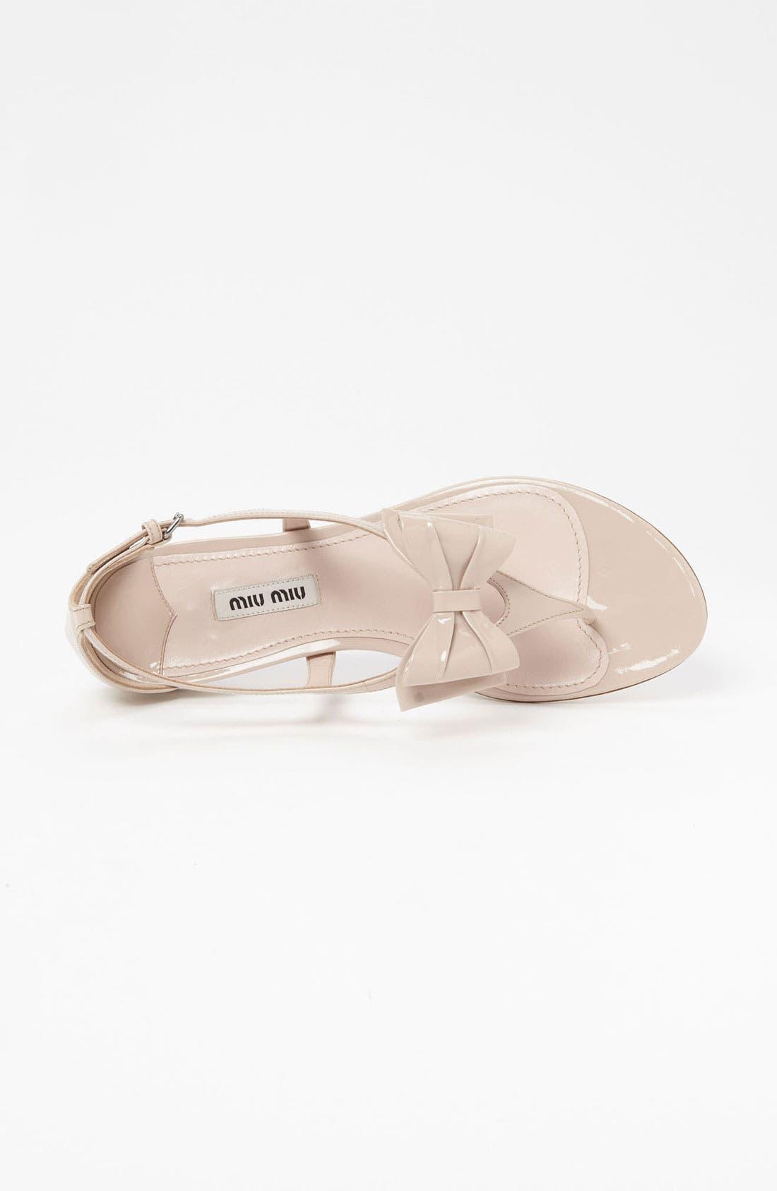 Alternate Image 3  - Miu Miu T-Strap Bow Sandal