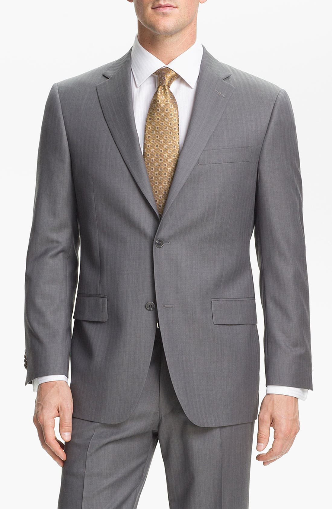 Alternate Image 4  - Hart Schaffner Marx Herringbone Suit