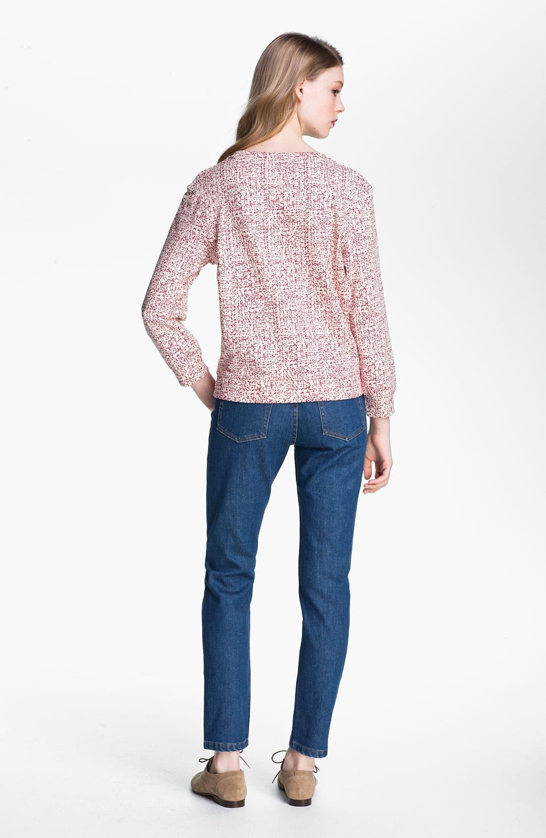 Alternate Image 4  - A.P.C. Print Blouson Sleeve Cotton Sweatshirt