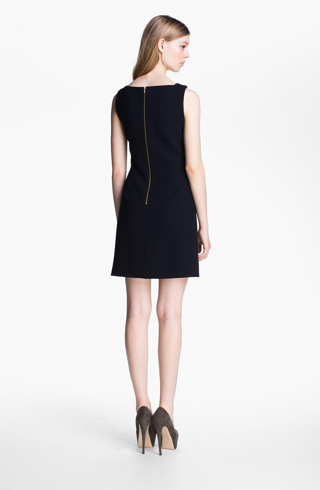 Alternate Image 2  - Victoria, Victoria Beckham Textured Wool Dress