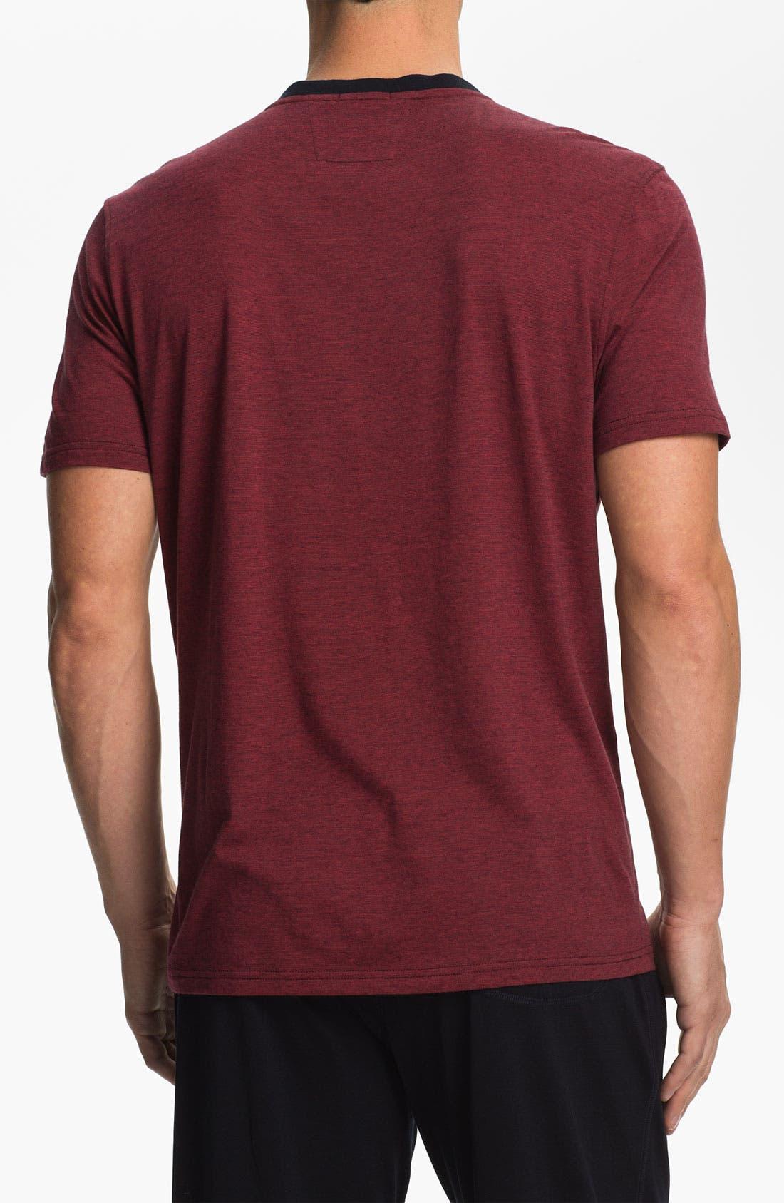 Alternate Image 2  - Daniel Buchler Pima Cotton & Modal V-Neck T-Shirt