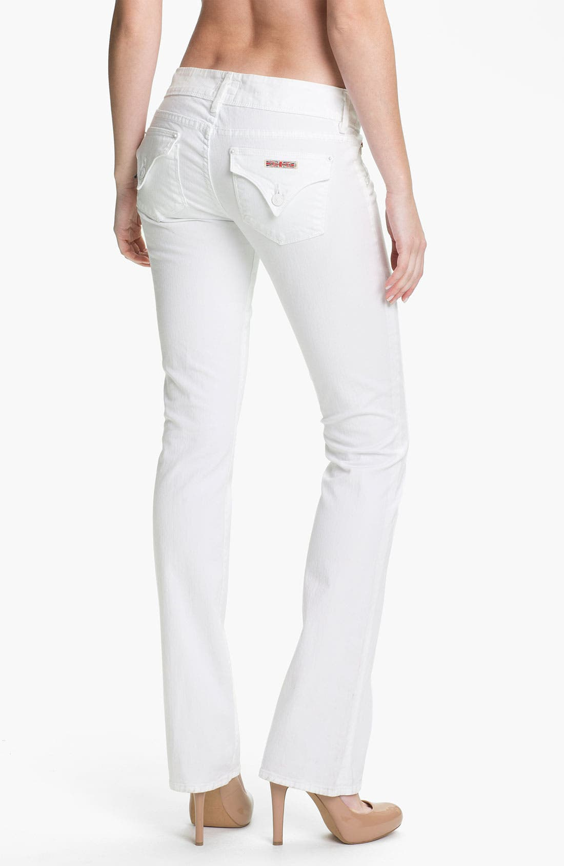 Alternate Image 2  - Hudson Jeans 'Beth' Baby Bootcut Jeans (White)