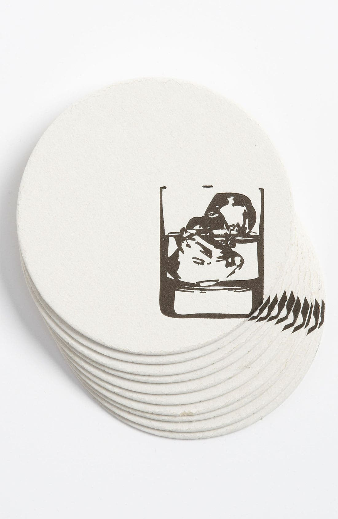 Alternate Image 1 Selected - 'Cocktail Glass' Letterpress Coasters (Set of 10)