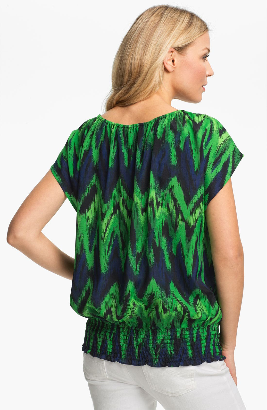 Alternate Image 2  - MICHAEL Michael Kors Print Peasant Top