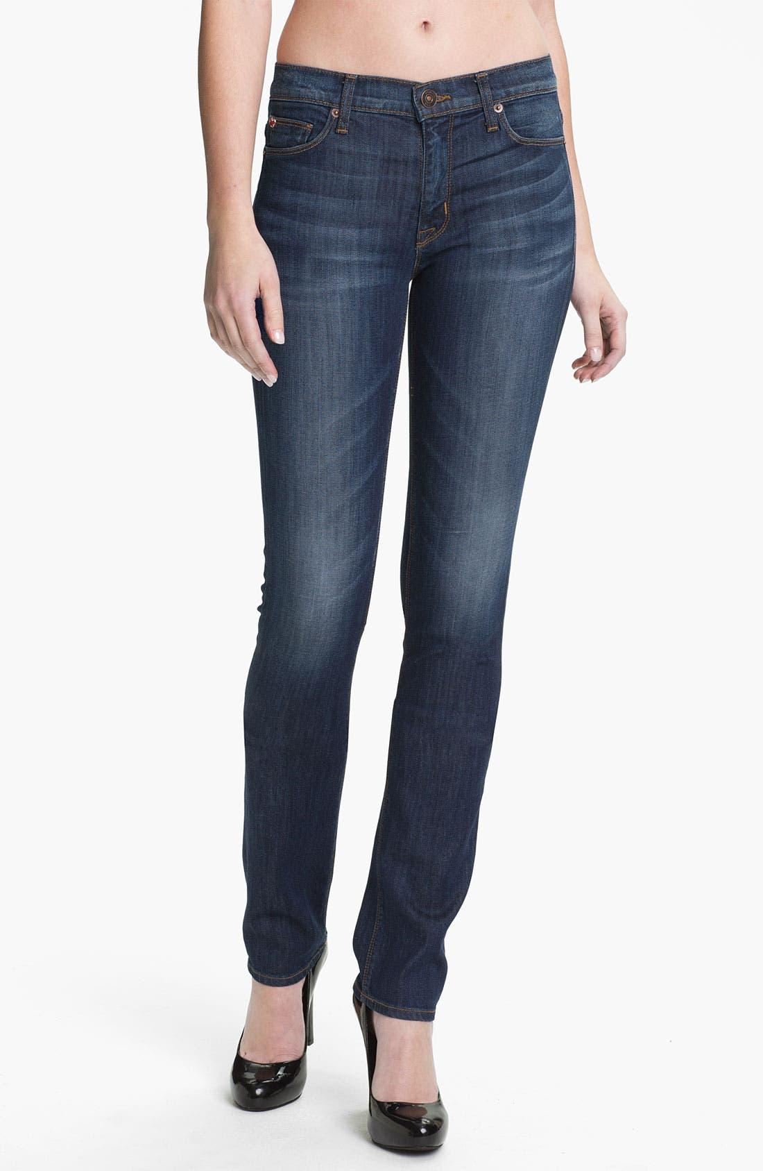 Main Image - Hudson Jeans 'Tilda' Straight Leg Stretch Jeans (Bennett)