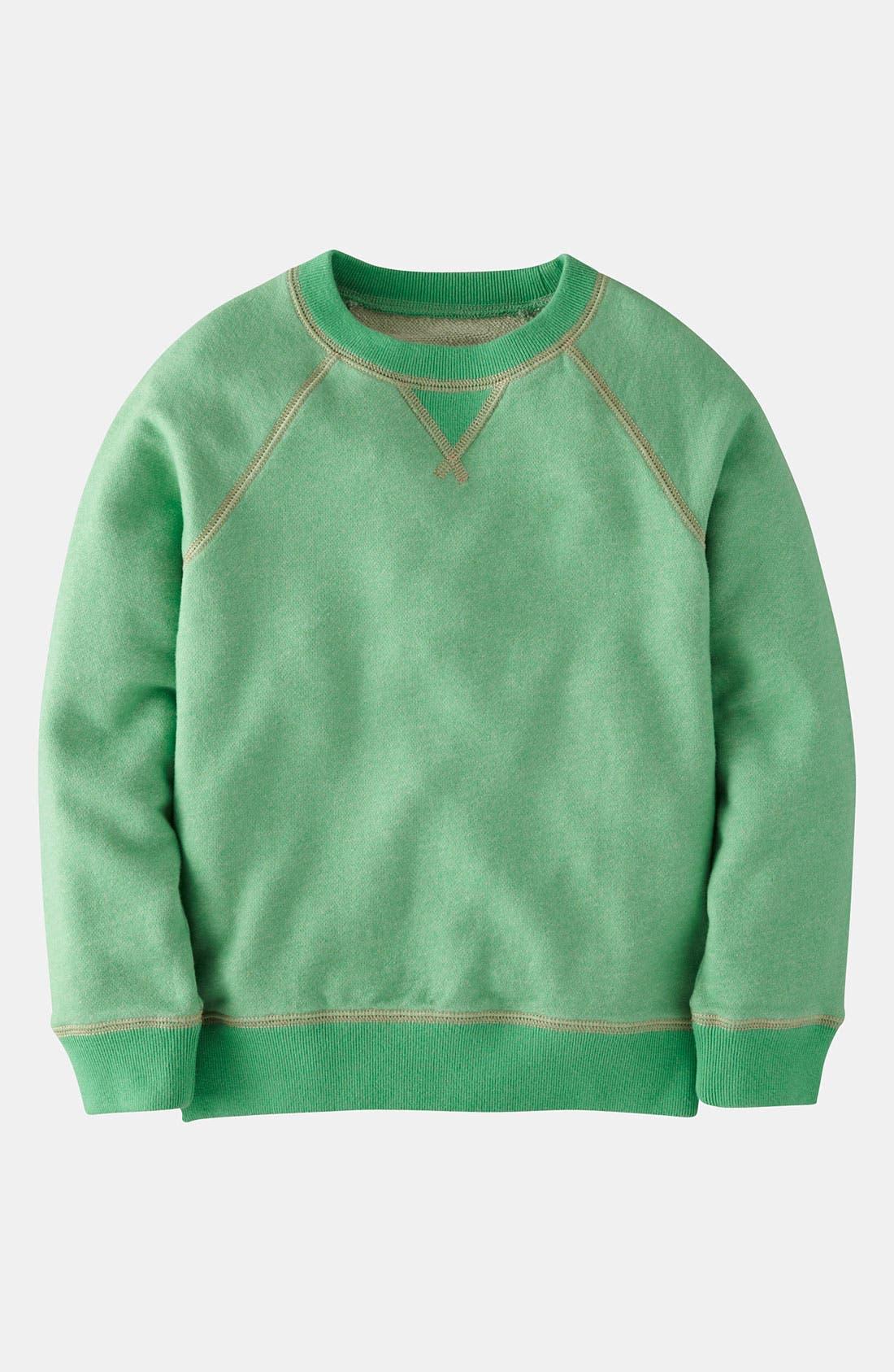 Main Image - Mini Boden Crewneck Sweatshirt (Little Boys & Big Boys)
