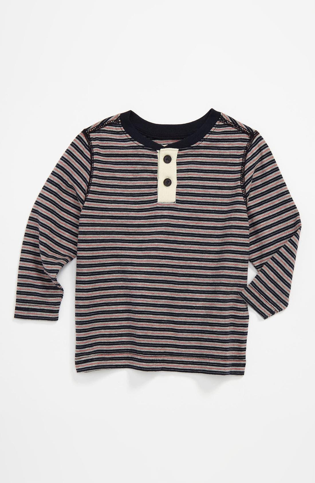 Alternate Image 1 Selected - Peek 'Rawley' Stripe Henley (Infant)