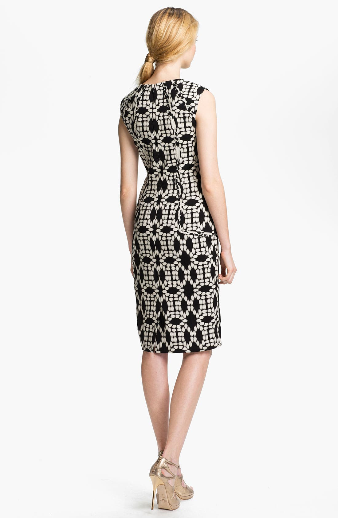 Alternate Image 2  - Lela Rose Print Sheath Dress