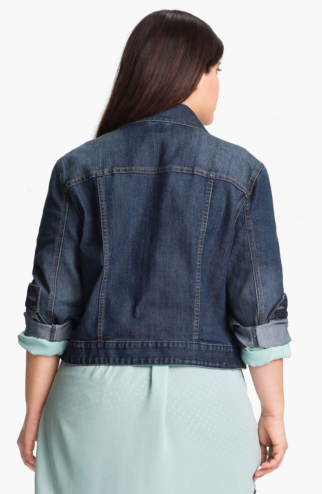 Alternate Image 2  - Jag Jeans 'Rupert' Denim Jacket (Plus Size)