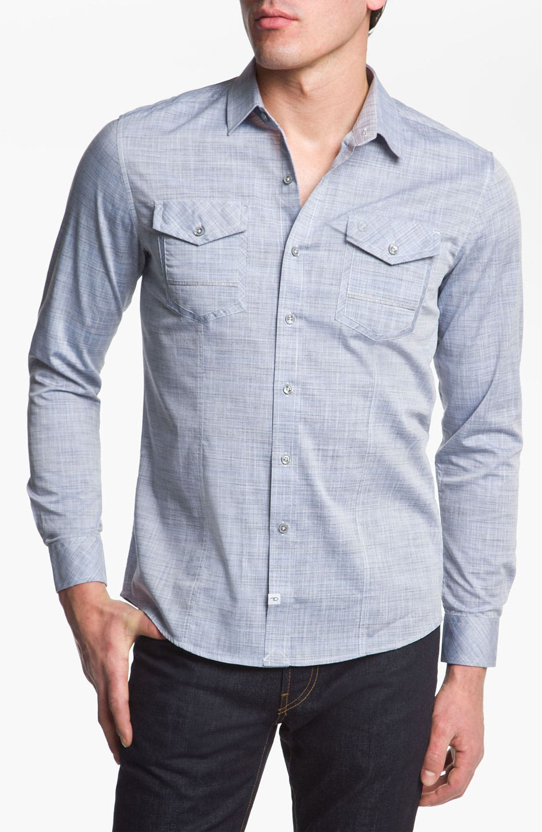Alternate Image 1 Selected - 7 Diamonds 'The Other Side' Woven Sport Shirt