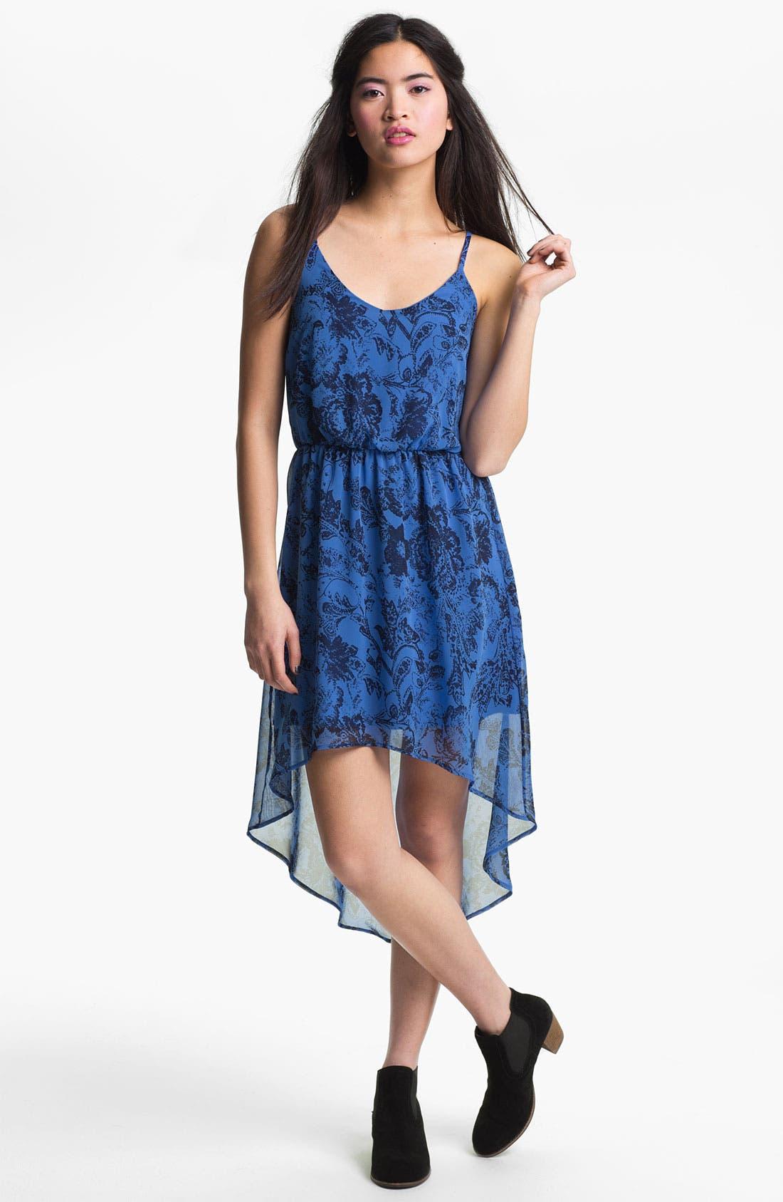 Alternate Image 1 Selected - High/Low Print Chiffon Dress