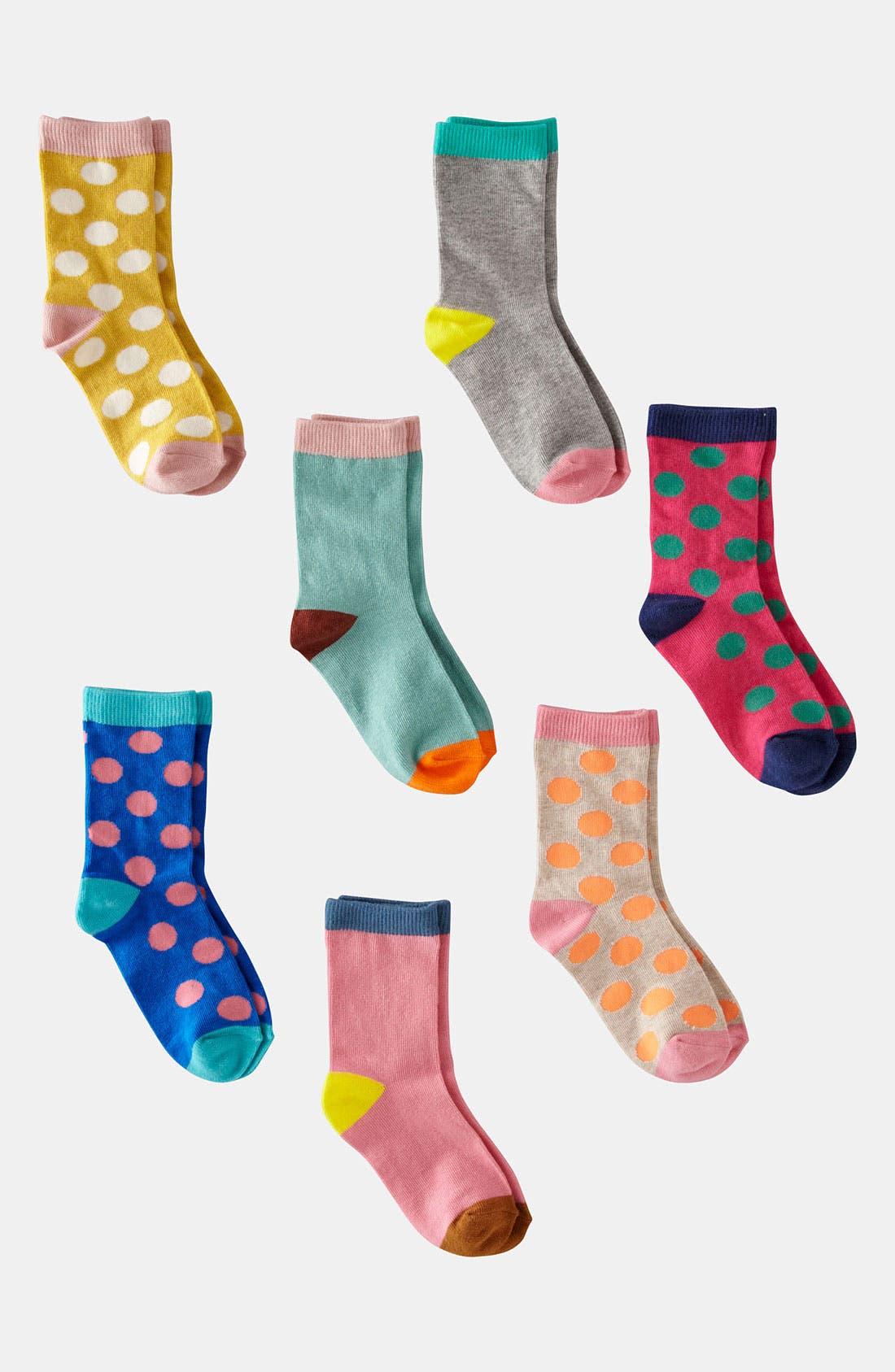 Main Image - Mini Boden Socks (7-Pack) (Little Girls & Big Girls)