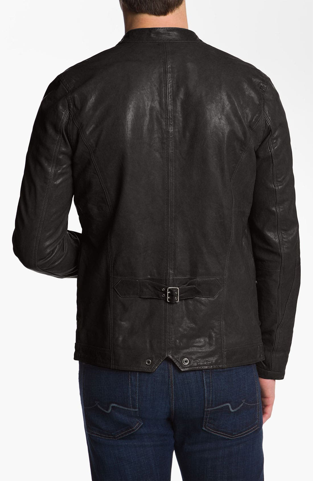 Alternate Image 2  - DIESEL® 'Losheka' Leather Moto Jacket