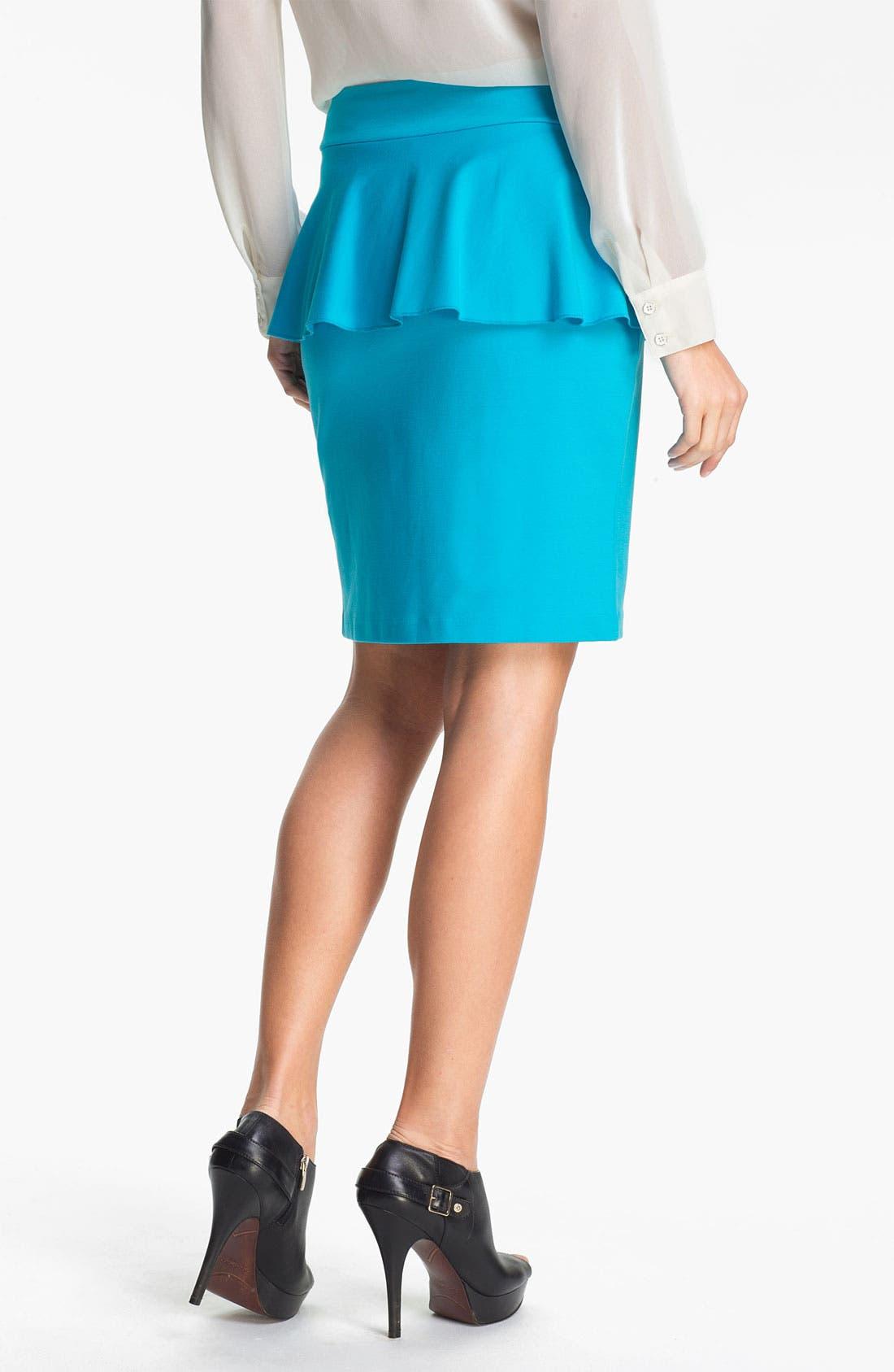 Alternate Image 2  - Kensie Peplum Ponte Skirt