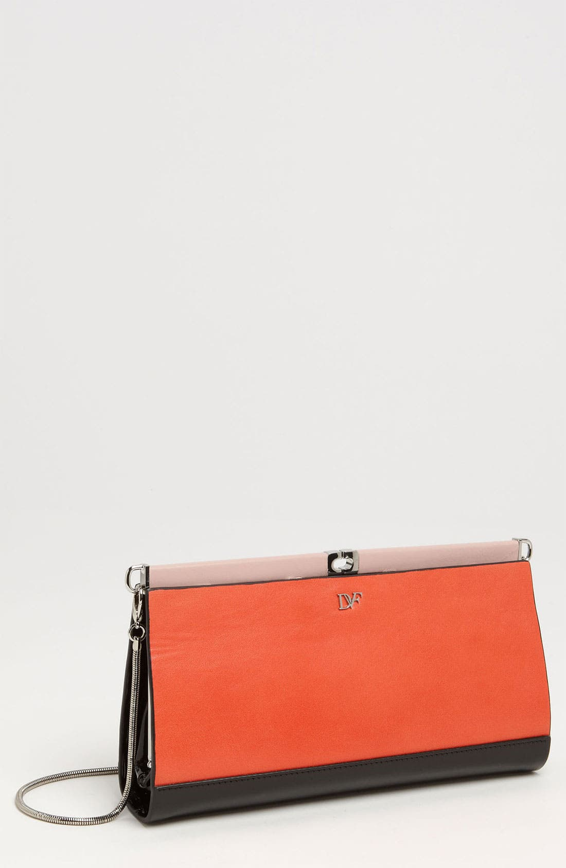 Alternate Image 1 Selected - Diane von Furstenberg 'Olivia' Embossed Clutch