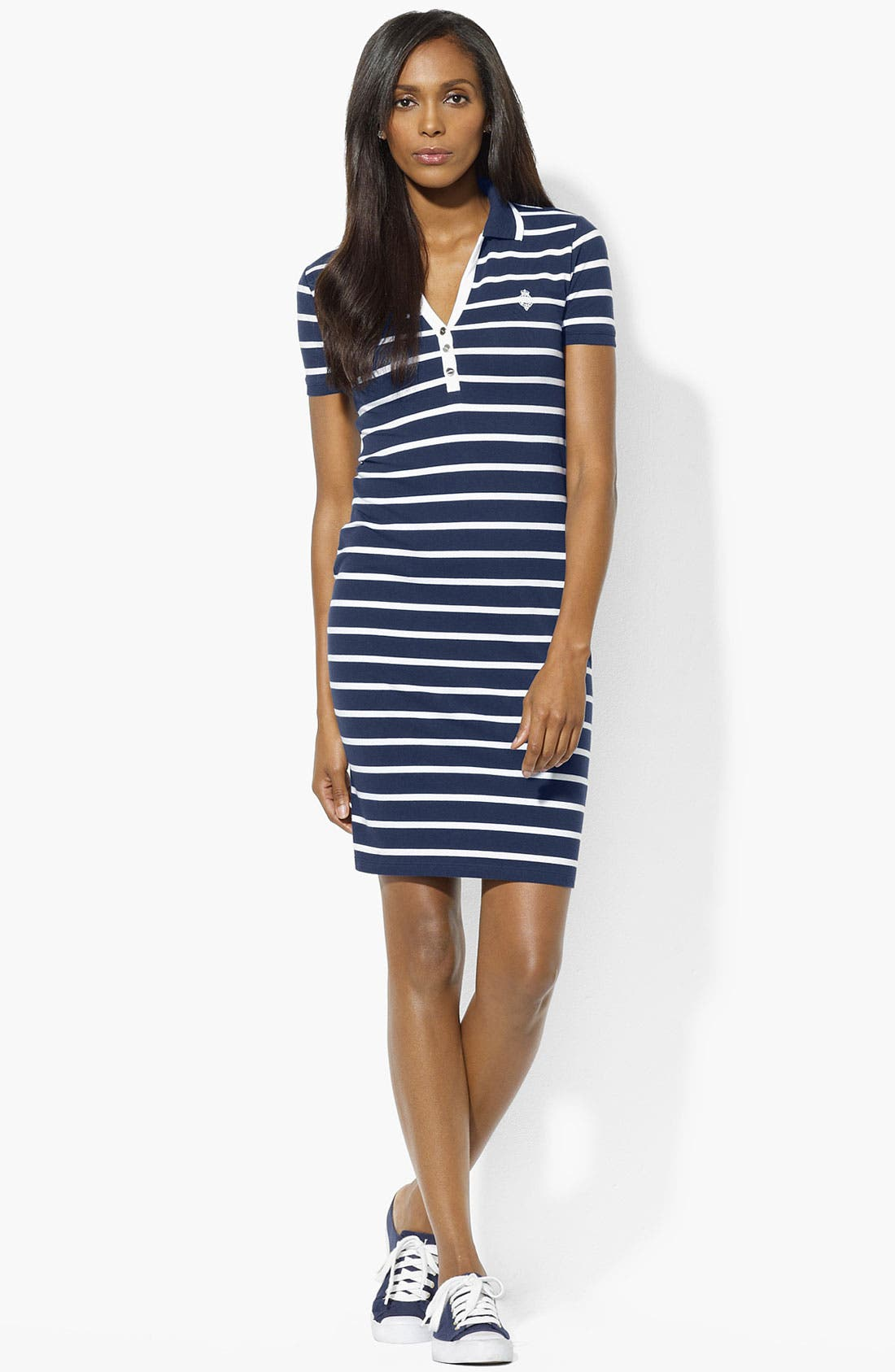 Alternate Image 1 Selected - Lauren Ralph Lauren Polo Dress (Petite) (Online Exclusive)