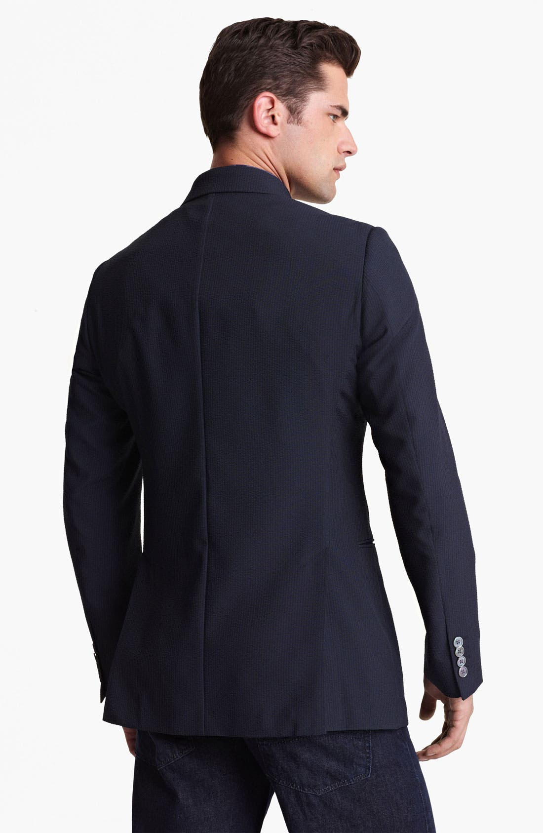 Alternate Image 2  - Armani Collezioni Seersucker Sportcoat