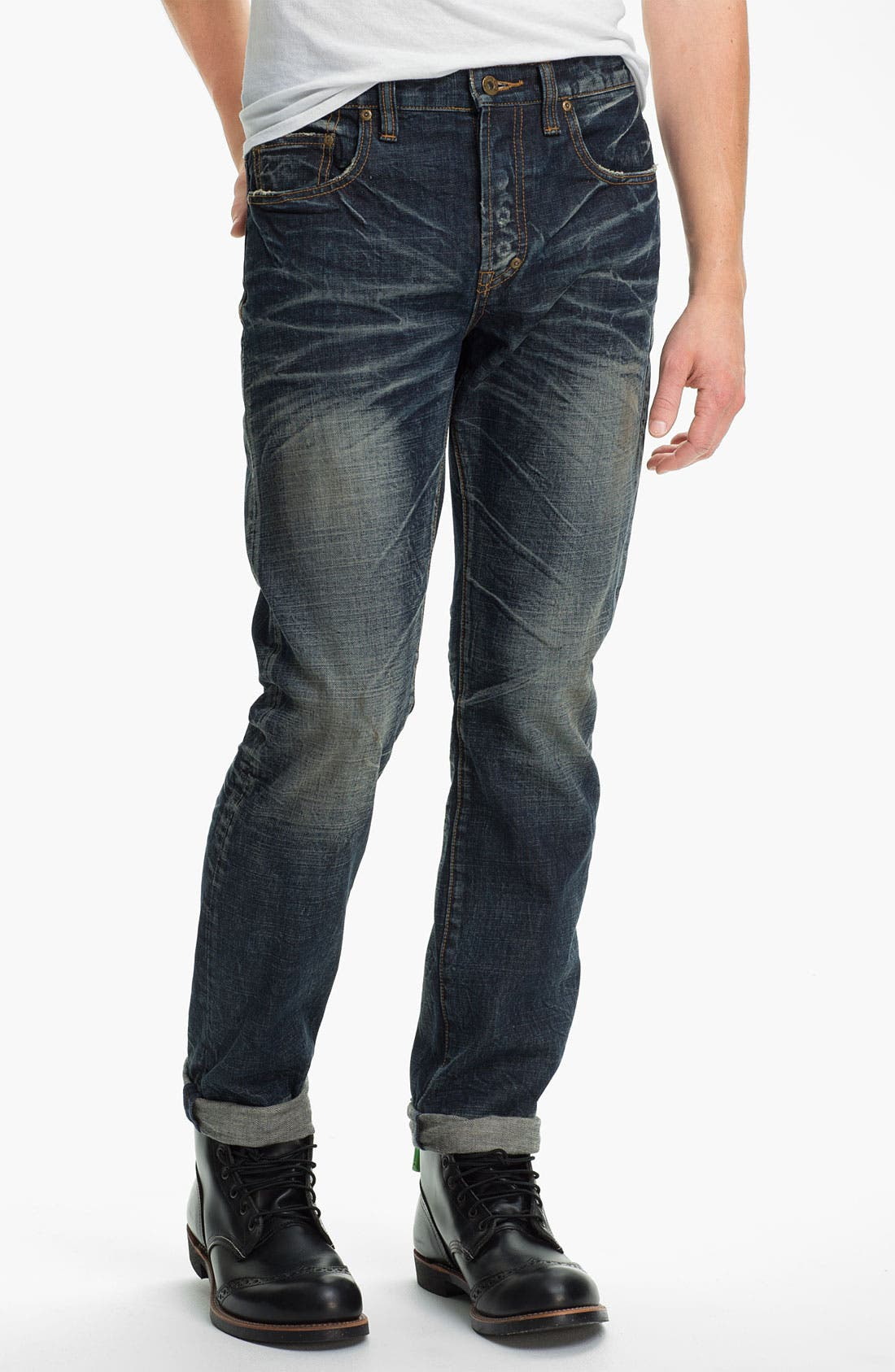 Alternate Image 2  - PRPS 'Barracuda' Straight Leg Jeans (Dark Blue)
