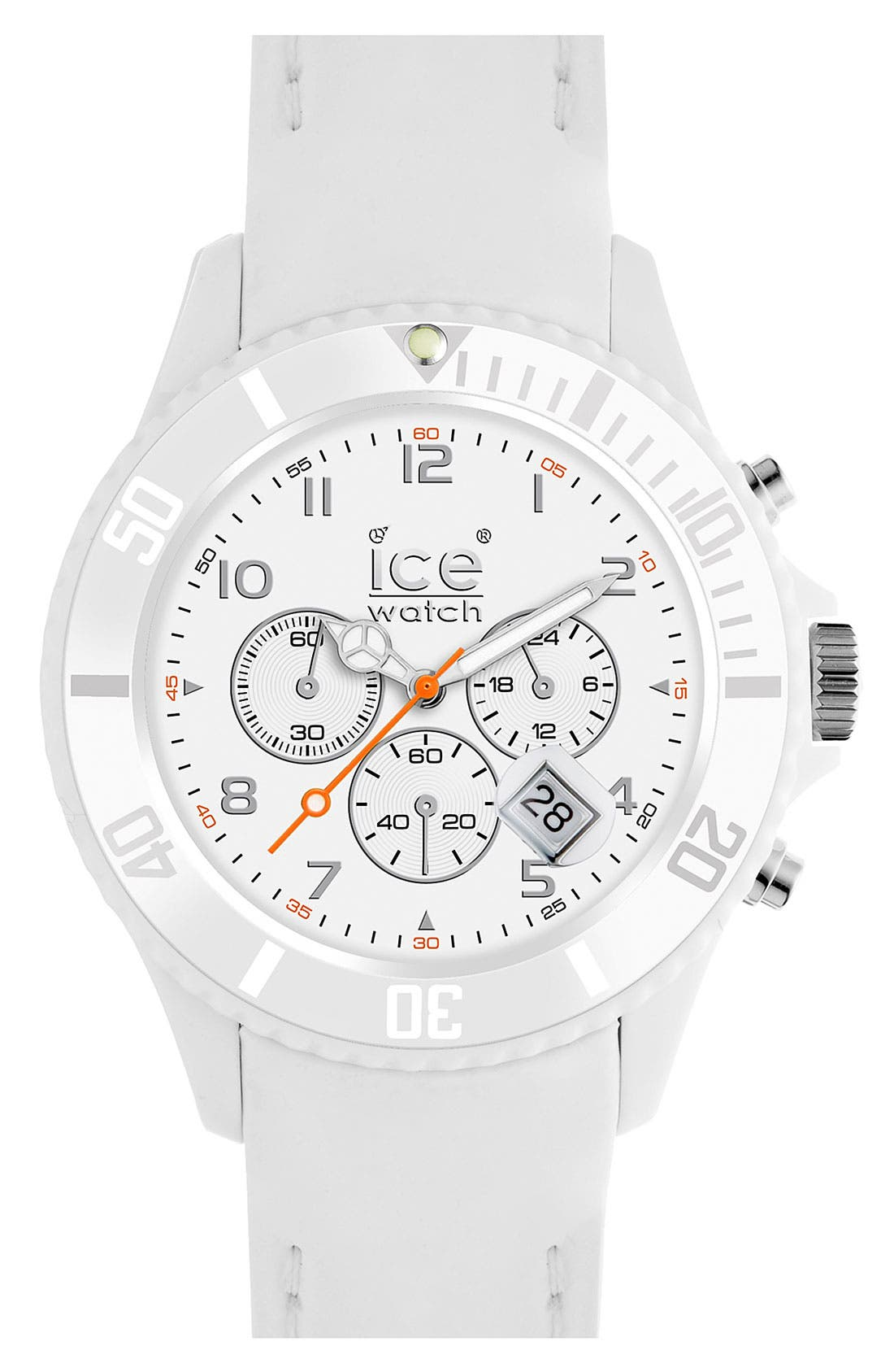 Alternate Image 1 Selected - ICE Watch Chronograph Matte Silicone Strap Watch, 53mm