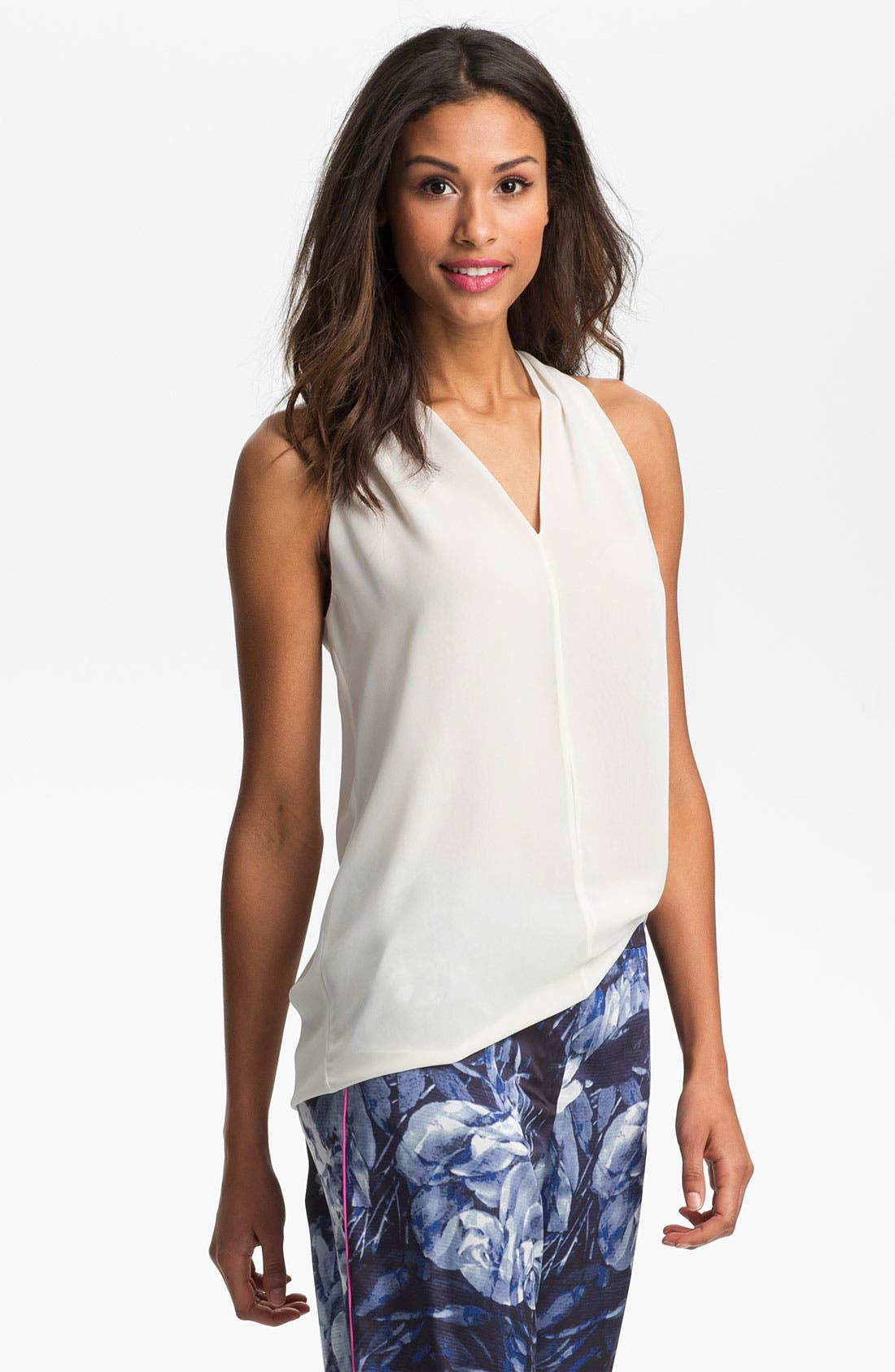 Alternate Image 1 Selected - Vince Camuto Sleeveless V-Neck Blouse (Regular & Petite)