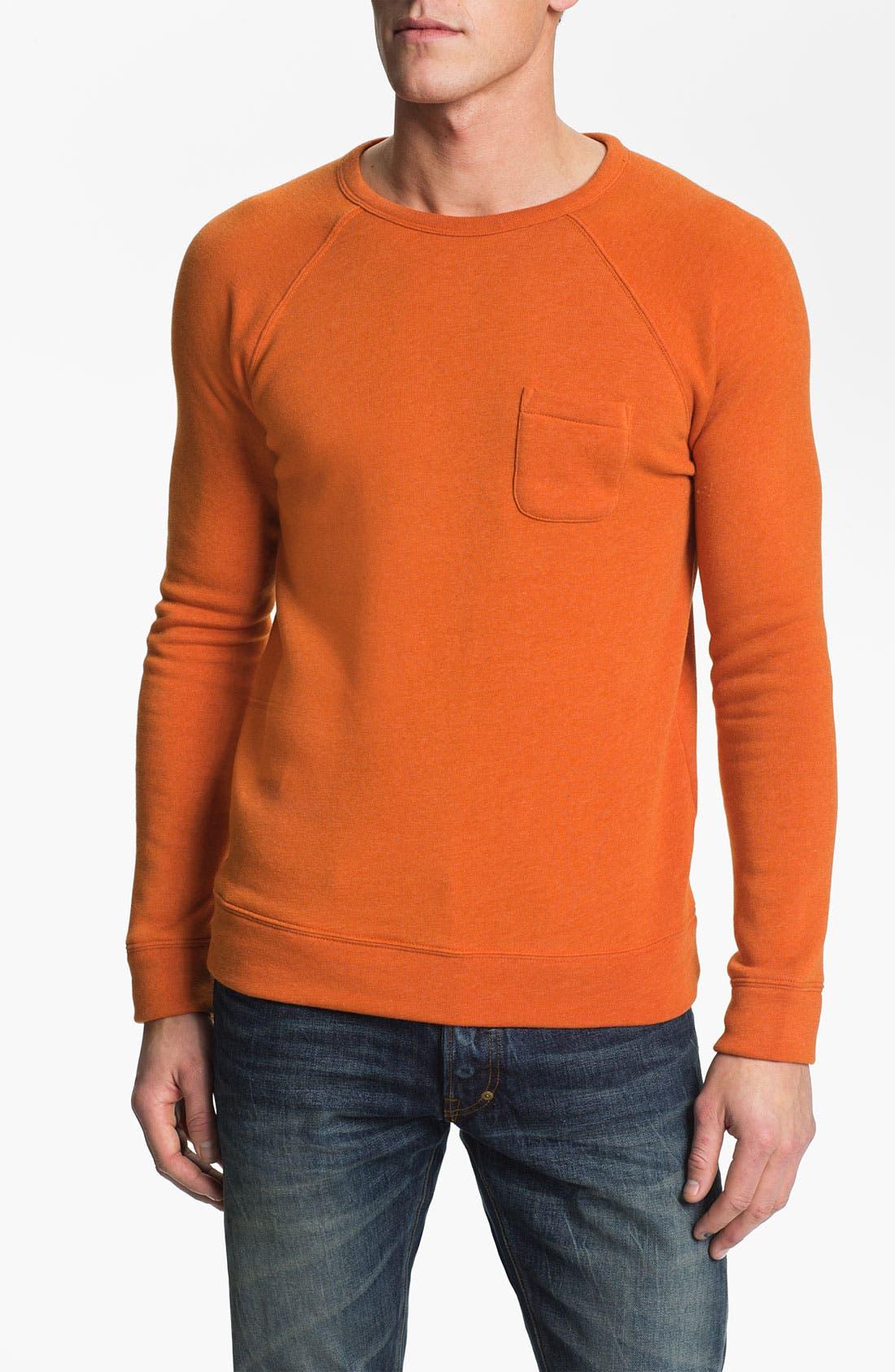 Lofty Creature Comforts Crewneck Sweatshirt,                             Main thumbnail 1, color,                             Apricot