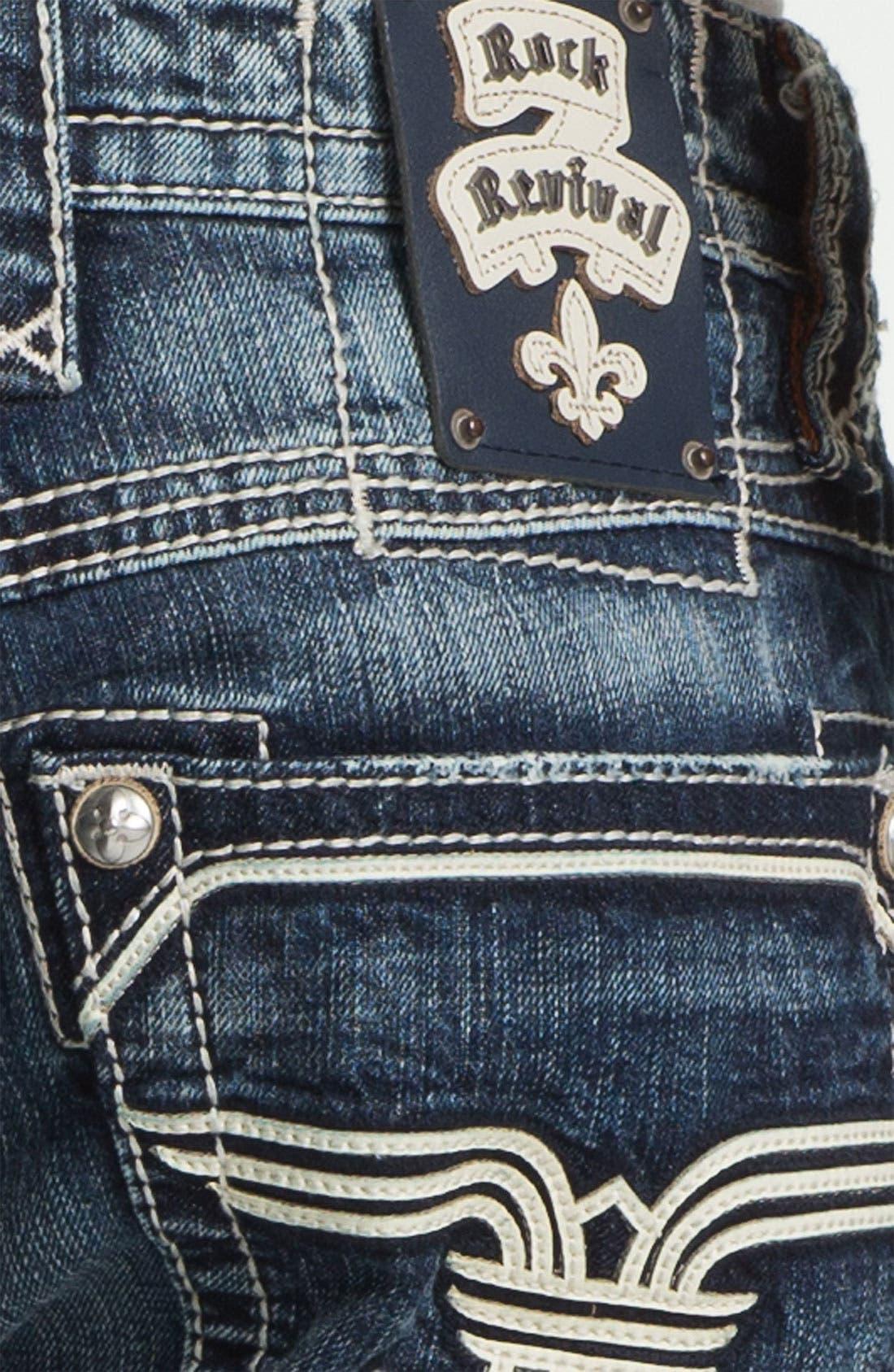 Alternate Image 4  - Rock Revival 'Bobber' Straight Leg Jeans (Dark Blue)