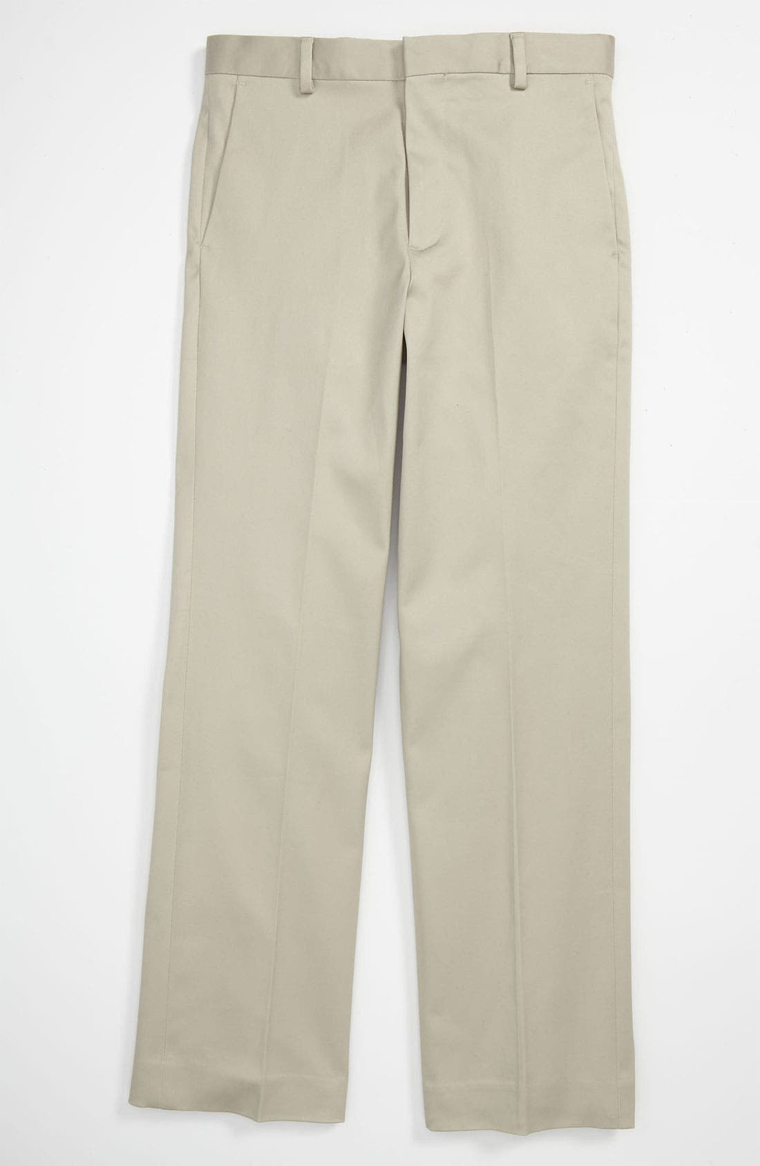 Alternate Image 1 Selected - C2 by Calibrate Flat Front Sateen Pants (Little Boys)