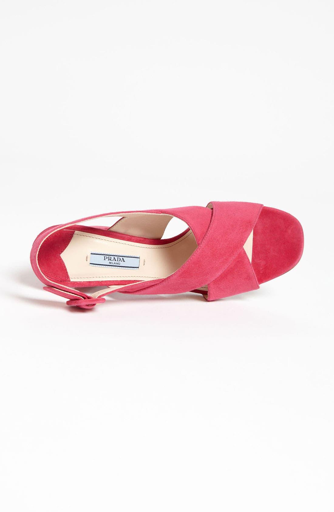 Alternate Image 3  - Prada Crisscross Slingback Sandal