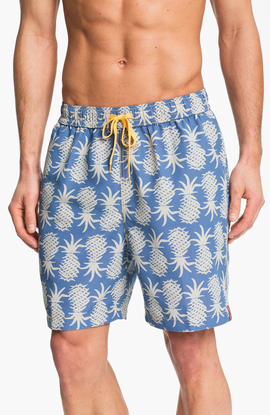 Main Image - Tommy Bahama Relax 'Pineapple Upside Down' Swim Trunks