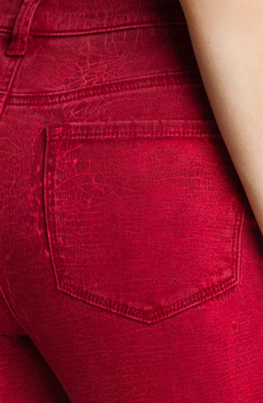 Alternate Image 3  - NYDJ 'Sheri - Shattered' Print Skinny Twill Jeans (Petite)