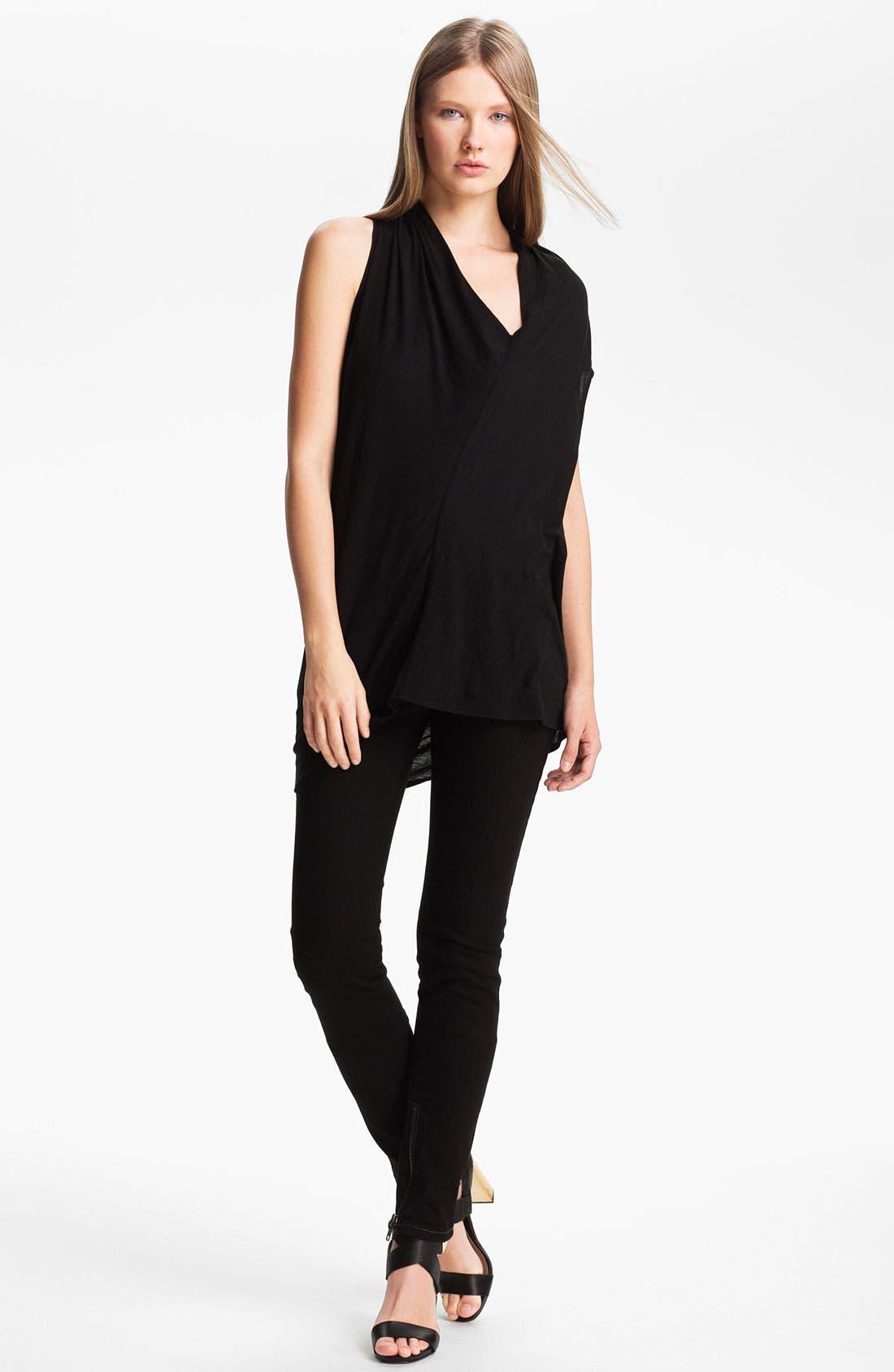 Alternate Image 1 Selected - Rachel Zoe 'Denise' Asymmetrical Cotton Top