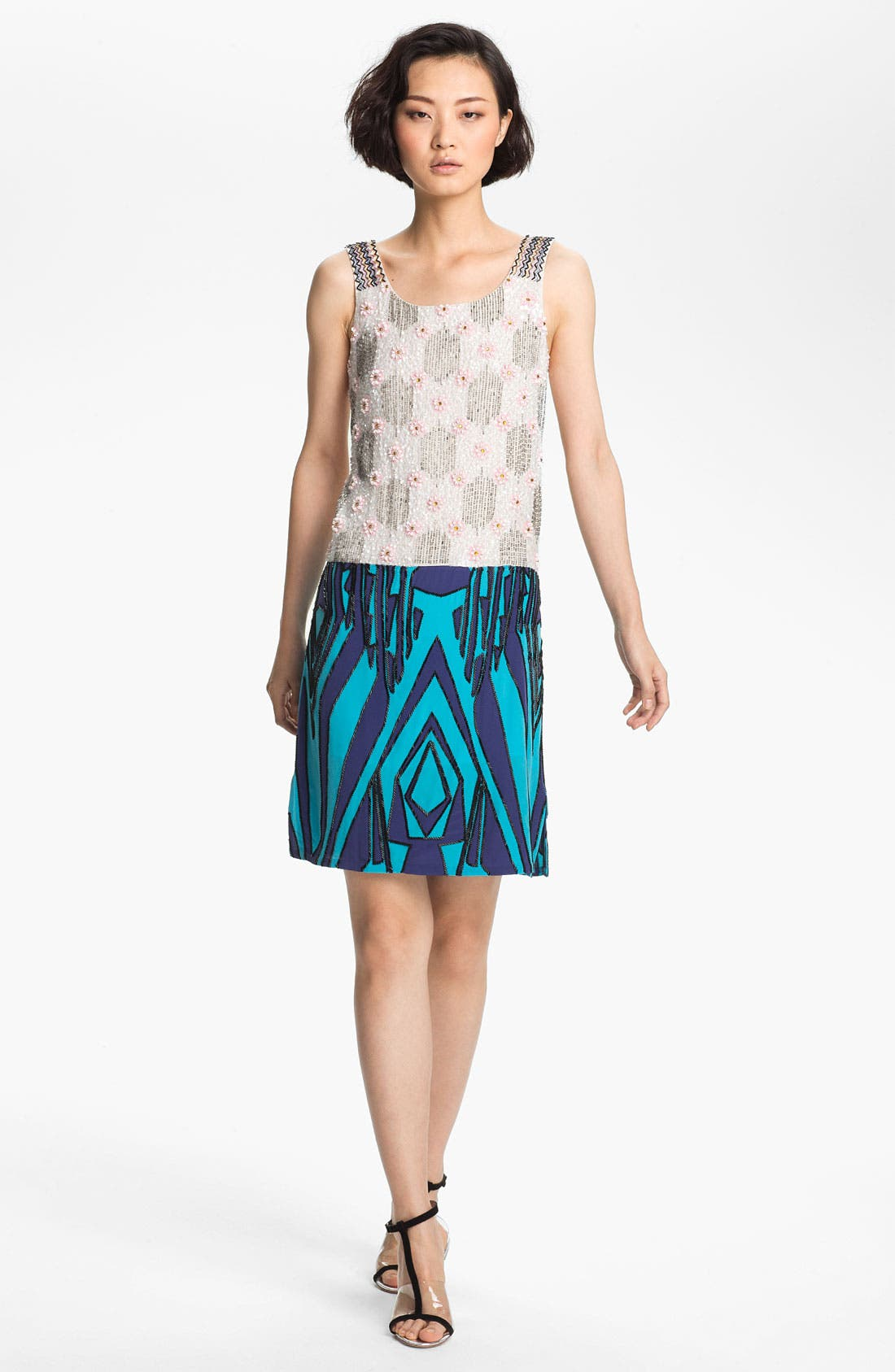 Alternate Image 1 Selected - Tracy Reese Beaded Silk Shift Dress