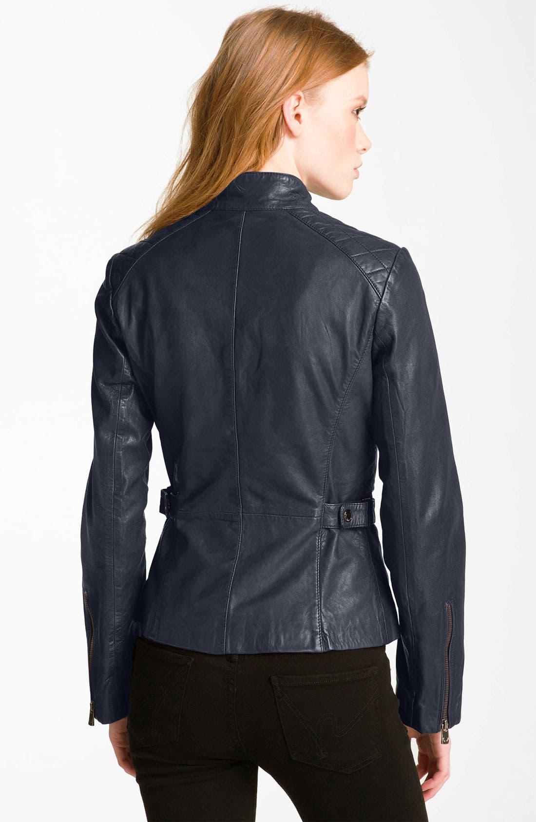 Alternate Image 2  - Bod & Christensen Quilted Leather Moto Jacket