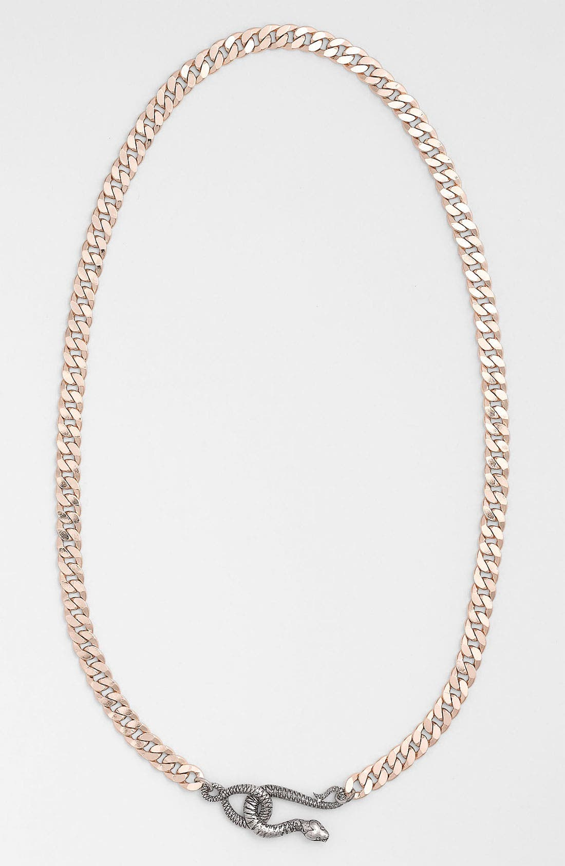Main Image - Guinevere Snake Closure Chain Collar Necklace